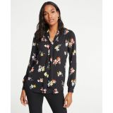 Anntaylor Meadow Floral Tie Neck Blouse