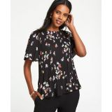 Anntaylor Meadow Floral Pleated Top