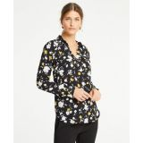 Anntaylor Floral Slim Camp Shirt