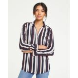 Anntaylor Striped Slim Camp Shirt