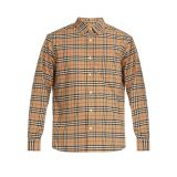 Burberry George House-check cotton-blend shirt