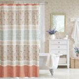 Madison Park Dawn 72-Inch Shower Curtain in Coral