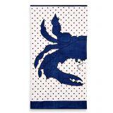 Crab Dot Beach Towel in Blue