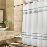 Croscill Spa Tile 72-Inch x 84-Inch Fabric Shower Curtain in White