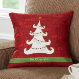 Christmas Tree 14-Inch Square Throw Pillow