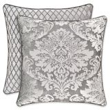 J. Queen New York Bel Air Medallion Square Throw Pillow in Silver