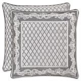 J. Queen New York Bel Air Square Throw Pillow in Silver