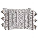 J. Queen New York Bel Air Boudoir Throw Pillow in Silver