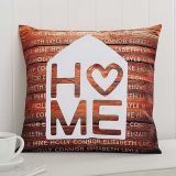 Home is Love 14-Inch Square Throw Pillow