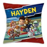 PAW Patrol Playful Pups Square Throw Pillow in Red