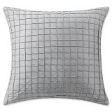 Waterford Ryan Square Throw Pillow in Platinum