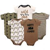 Luvable Friends 5-Pack Happy Camper Bodysuit