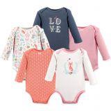 Hudson Baby 5-Pack Woodland Fox Long Sleeve Bodysuits