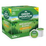 Green Mountain Coffee Breakfast Blend Keurig K-Cup Pods Value Pack 48-Count