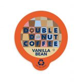 80-Count Double Donut Coffee Vanilla Bean Coffee for Single Serve Coffee Makers