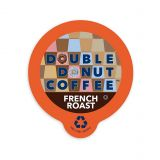 80-Count Double Donut Coffee French Roast Coffee for Single Serve Coffee Makers