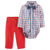 Carters carters 3-Piece Dressy Bow Tie Set in Coral