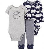 Carters carters 3-Piece Bear Bodysuit and Pant Set in Navy