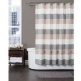 Baltic Linen Yarn-Dyed Strata Striped Shower Curtain