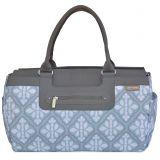JJ Cole Parker Weekender Diaper Bag in Blue Iris