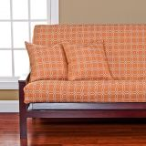 Siscovers SIScovers Mandarin Futon Cover in Orange/White