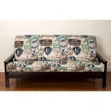 Siscovers SIScovers Parks and Rec Futon Cover in Brown