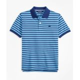 Brooksbrothers Boys Short-Sleeve Cotton Pique Stripe Polo Shirt
