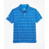 Brooksbrothers Boys Performance Stripe Polo Shirt