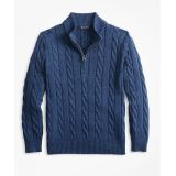 Brooksbrothers Boys Cotton Half-Zip Cable Sweater