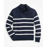 Brooksbrothers Boys Cotton Stripe Mockneck Sweater