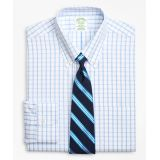 Brooksbrothers Milano Slim-Fit Dress Shirt, Non-Iron Windowpane