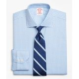 Brooksbrothers Stretch Madison Classic-Fit Dress Shirt, Non-Iron Royal Oxford Gingham