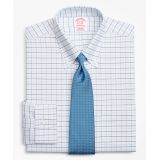 Brooksbrothers BrooksCool Traditional Relaxed-Fit Dress Shirt, Non-Iron Windowpane