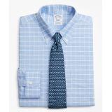 Brooksbrothers BrooksCool Regent Fitted Dress Shirt, Non-Iron Windowpane