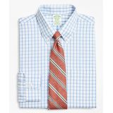 Brooksbrothers Stretch Milano Slim-Fit Dress Shirt, Non-Iron Outline Windowpane