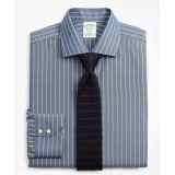 Brooksbrothers Stretch Milano Slim-Fit Dress Shirt, Non-Iron Pinstripe