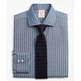 Brooksbrothers Stretch Madison Classic-Fit Dress Shirt, Non-Iron Pinstripe
