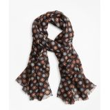 Brooksbrothers Circle and Dot Wool Scarf