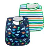 Carters 2-Pack Stripes & Dinosaur Feeding Bibs