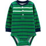 d82cea0ac09 Carters Striped Henley Bodysuit