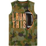 Carters I Run This Football Jersey Tank