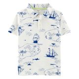 Carters Pirate Ship Slub Polo