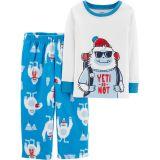 fa160f00e6b Carters 2-Piece Yeti Cotton   Fleece PJs