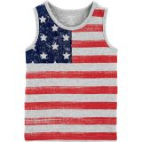 Carters 4th Of July Flag Slub Tank
