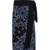 MICHAEL KORS COLLECTION Floral-print silk-crepe wrap skirt