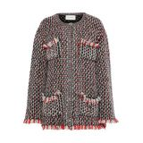GUCCI Embellished wool-blend boucle cardigan