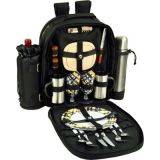 Picnic at Ascot Deluxe Equipped 2 Person Picnic Backpack with Coffee Service, Cooler & Insulated Wine Holder