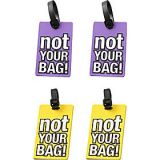 Luggage Spotters NOT YOUR BAG! Luggage Tags - Set of 4