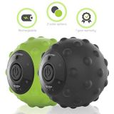 Sedona 4-Speed Vibrating Massage Ball - Rechargeable Textured Foam Roller Muscle Tension Pain & Pressure Relieving Fitness Massaging Balls Myofascial Release For Hips Feet...