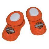 Harley-Davidson Orange Baby Booties 0/3M